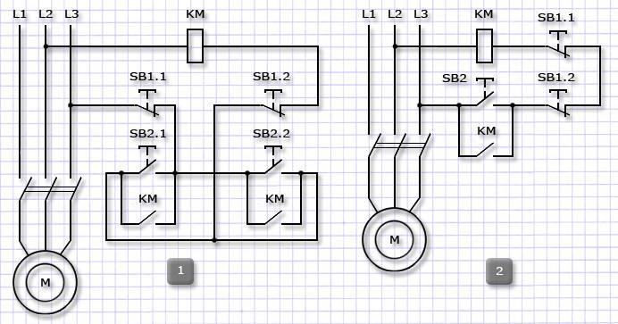 Схема управления приводом с 2х