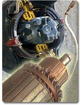 Неисправности коллекторно-щеточного аппарата двигателей